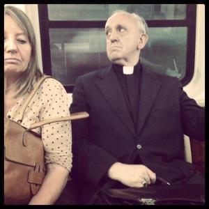 Francis on subway