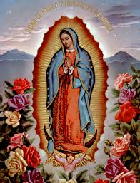 Our Lady of Guadelupe and roses