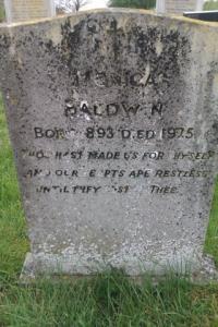 Monica Ba;dwin gravestone
